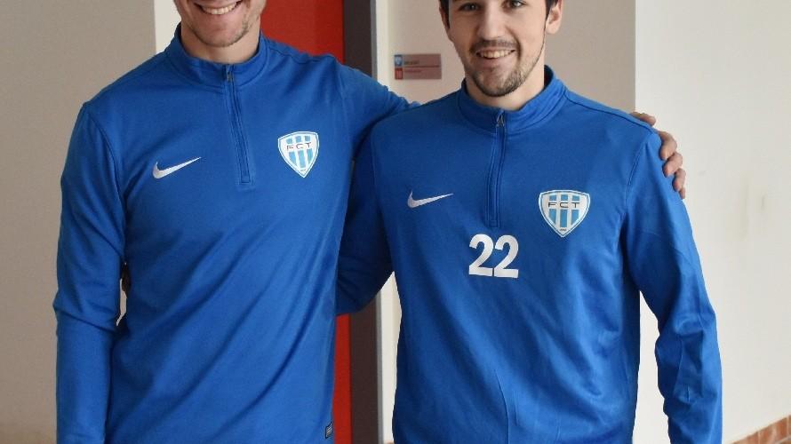 Hráči srbské národnosti Maty Mrsić (vlevo) a Alexander Jeftić se budou ucházet o angažmá v Táborsku.