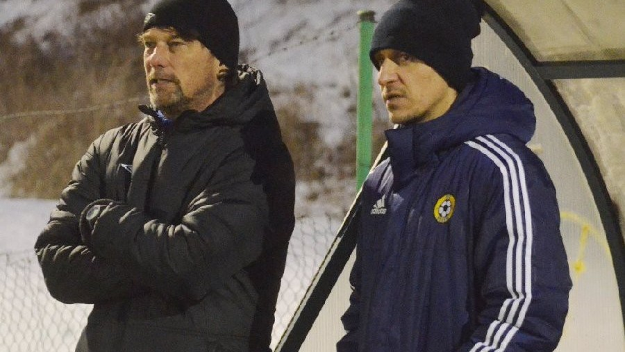 Trenéři obou týmů Daniel Šmejkal a Ondřej Prášil.