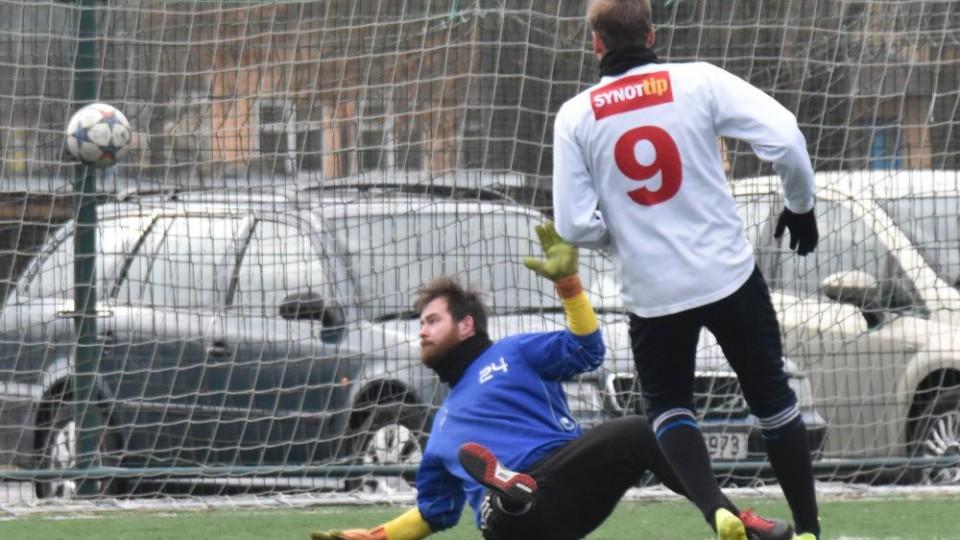 David Říha otevírá skóre ve prospěch Hluboké.