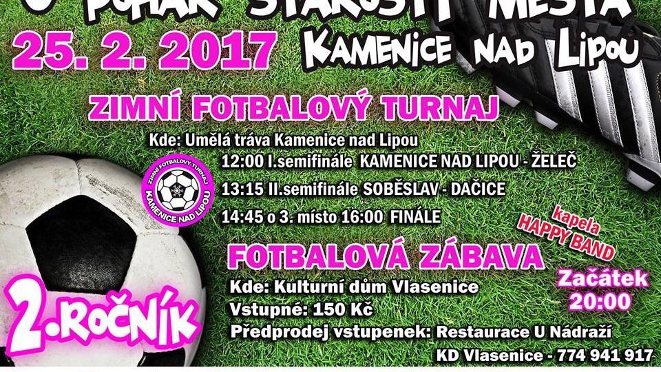 Pozvánka na turnaj do Kamenice.