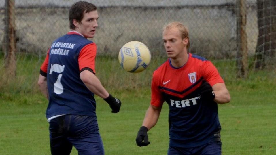 Nálada v týmu je perfektní, pochvaluje si kanonýr Soběslavi Martin Dvořák