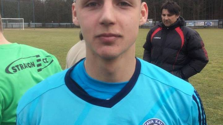 Michal Požárek byl hrdinou zápasu. Foto: SK Otava Katovice
