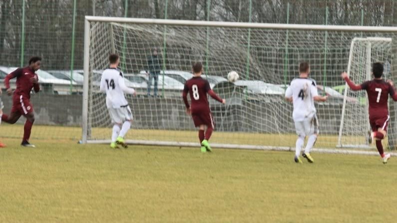Tiemoko Konaté právě vsítil druhý gól Sparty.