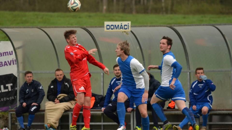 Radim Štos (uprostřed) vstřelil svůj třináctý letošní gól.