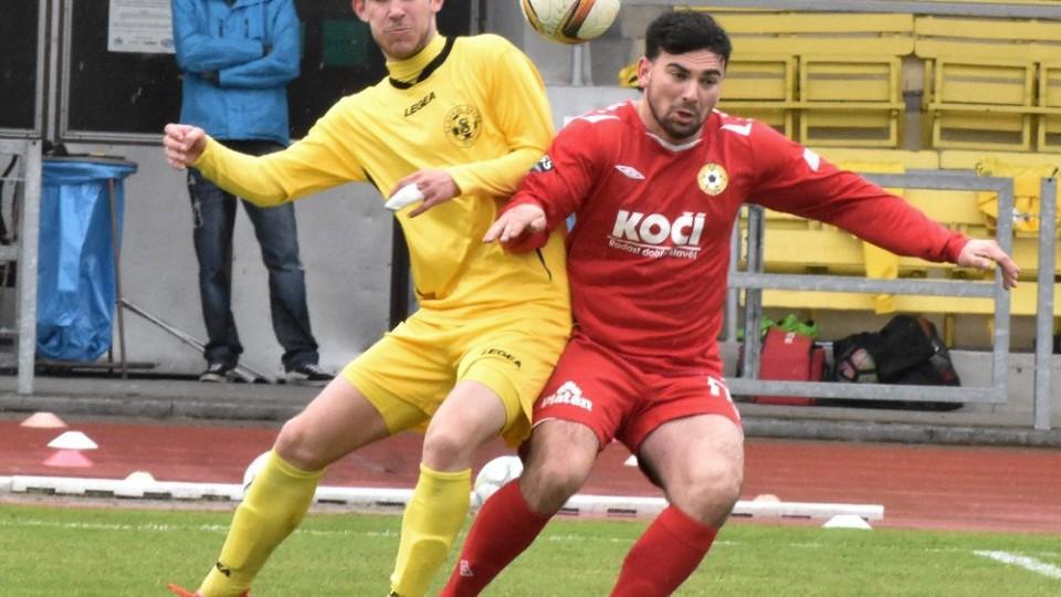 Už v první minutě skóroval želečský Tomáš Kukačka, který se utkal o míč s Jaroslavem Váchalem z Písku.