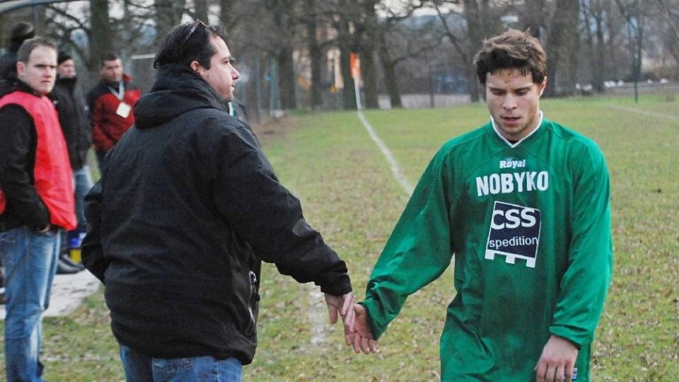V Čížové s trenérem Fečem, s nímž si moc nerozuměl.