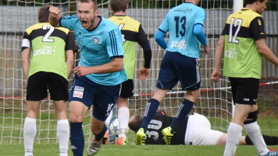 Vladimír Uher zrovna vyrovnal v derby s Osekem, odkud přišel před sezonou do Katovic.