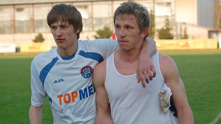 Jaro 2008 s Pavlem Pulcem po bezgólové remíze v Milevsku.