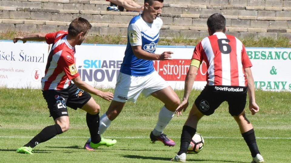 Adnan Džafič se s působením v Táborsku rozloučil vyrovnávacím gólem.
