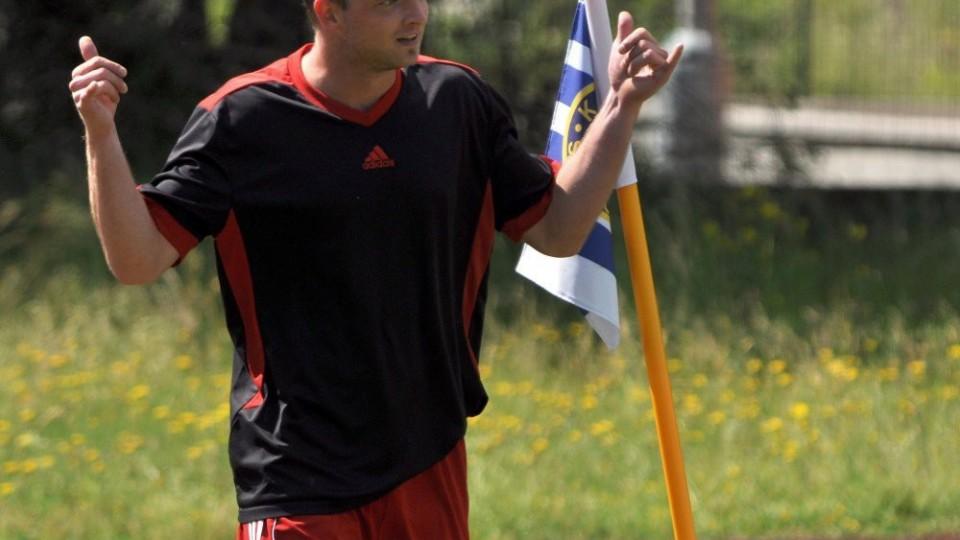 Jakub Nevosad právě poslal Slavii do vedení. Foto: Miloslav Kusbach