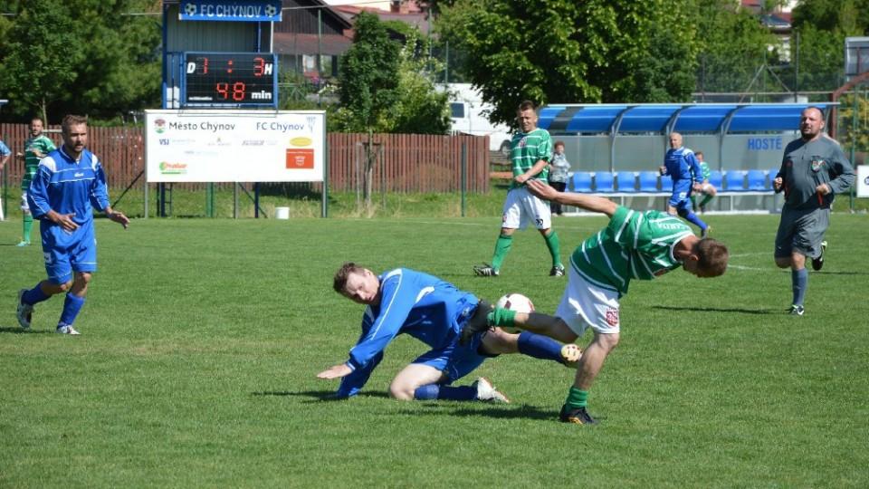 Fotbal starých gard v Chýnově se vydařil a líbil
