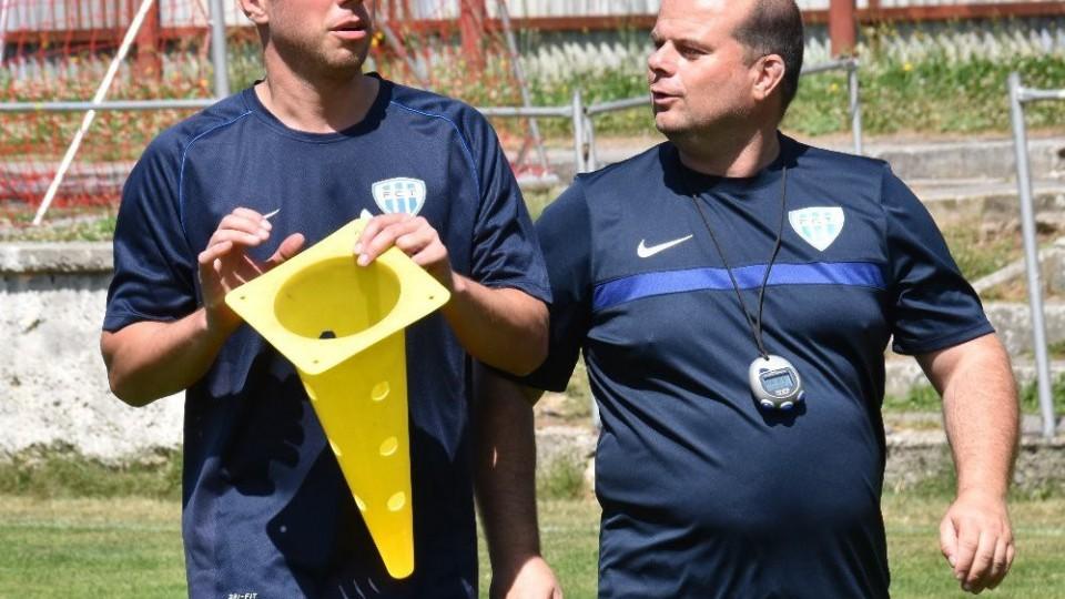 Novým asistentem trenéra Romana Nádvorníka je Zdeněk Koukal (vlevo).