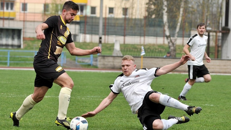 Tomáš Nebeský v zápase N. Včelnice ve Čt Dvorech. Foto: Miloslav Kusbach