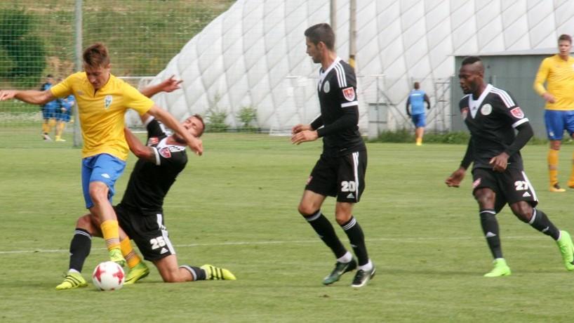 FOTO: Dynamo zvládlo i poslední přípravný zápas. Na Složišti zdolalo třetiligový Benešov 2:0