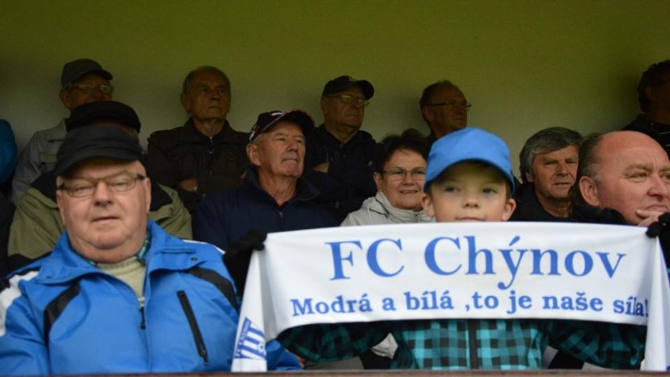 Nejmladší chýnovský fanoušek nevynechá s dědou žádný zápas domácího mužstva.