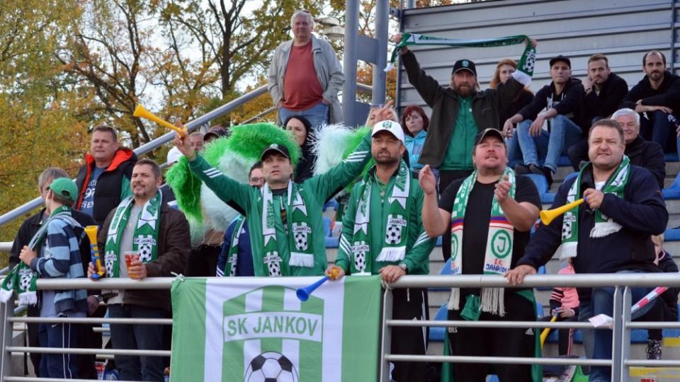 Jankovští fans povzbuzovali celý zápas.