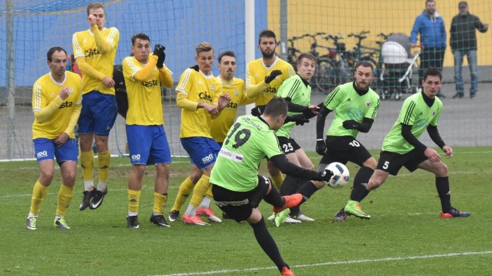 Po trestném kopu expíseckého Lukáše Šlehofera vsítil David Surmaj jediný gól.