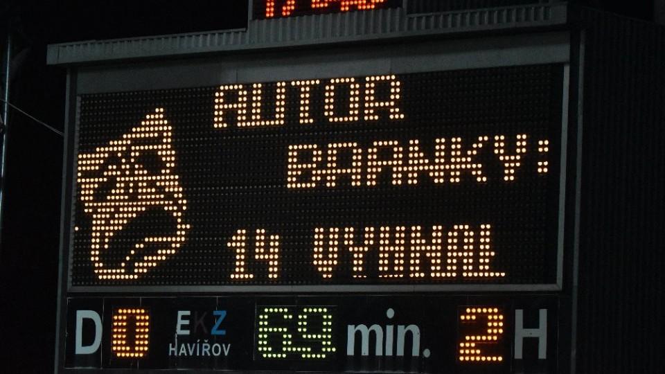 Druhý Vyhnalův gól zápas rozhodl.